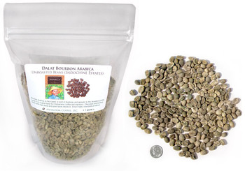 Vietnamese Dalat Bourbon Arabica, green unroasted ##for 1lb (larger sizes available)##