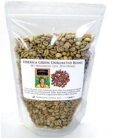 Liberica green unroasted beans from the Philippines  ##for 1lb##