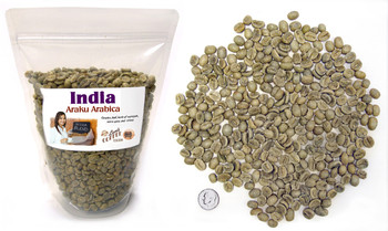 Indian Arabica Blend from Araku Valley, green unroasted beans ##for 1 lb bag##