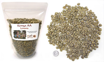 Kenya Lenana AA green unroasted coffee beans