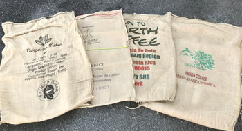 Burlap green coffee sacks##or get 5 for only $25!##