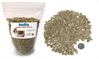 India Kaapi Royal Screen 17 Robusta ##for 3 lb green unroasted beans##