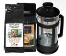 Student French Press Pack##12 ounce press with 2 coffees##