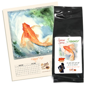 JAZ Improv coffee : Summer ##8 oz., with FREE Koi calendar card##