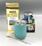 Saigon Coffee Kit with Insulated Mug, ocean turquoise color