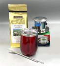 Saigon Coffee Kit with Insulated Mug, burgundy color ##for Saigon Tradition coffee, 8 oz Phin and insulated tumbler##