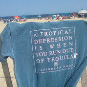 Caribbean Hobo.... Tropical Depression Tequila t-shirt