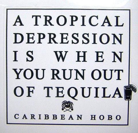 Tropical Depression Tequila sticker