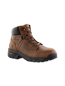 Right Angled Timberland Mens Helix Safety Toe Work Boots Features: Full Grain Leather Waterproof Titan Alloy Safety Toe Cement Construction Mesh Lining Contoured Single Density Open Cell Polyurethane Footbed Dual Purpose Top Hardware Active Heel Lock Hardware Active Heel Lock Lacing System Nylon Shank Anti Fatigue Technology Molded EVA Midsole Slip Resistant Heat Resistant Oil Resistant Abrasion Resistant