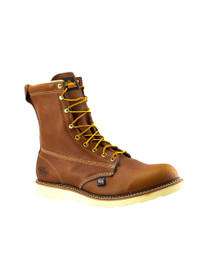 "Thorogood Men's 8"" Soft Leather Slip Resistant Toe Boot -814-4364 (front angle)"
