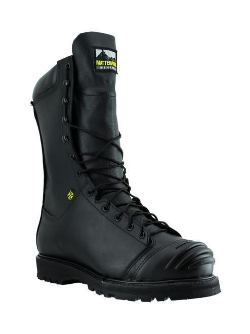 "Matterhorn Men's 10"" Black Waterproof Internal Metguard Mine Boot - 12255 (Right angle)"