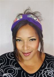 Headband Beaded - 006 Purple, Direct from the designer Peak & Brim Hats