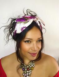 Headband Pink (Floral) Velvet - 002, Direct from the designer Peak & Brim Hats