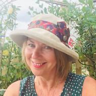 Sofia -001 (Linen), Direct from the designer, Peak and Brim Designer Hats