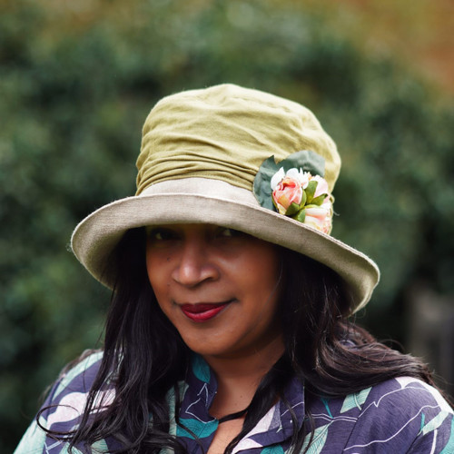 Josephine Rose in Olive - Direct from the designer, Peak and Brim Designer Hats
