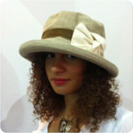Elly (Linen) Medium Brim, Direct from the designer - Peak and Brim Hats