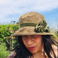 Peak and Brim Designer Hats - Verity in Olive & Olive - direct from the designer