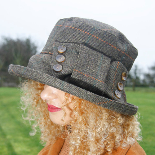 Peak and Brim Designer Hats - Clara Medium Brim - direct from the designer