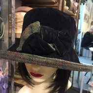Peak and Brim Designer Hats - Gina in Black- direct from the designer