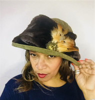Peak and Brim Designer Hats - Monique in Olive - direct from the designer