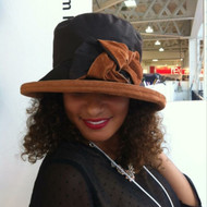 Zara in Brown / Tan - Available with small or large Brim - Direct from the designer, Peak and Brim Designer Hats