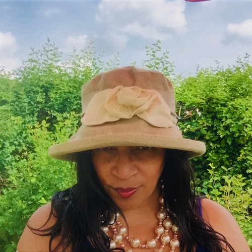 Sweet Charity Medium Brim (Linen), Direct from the designer, Peak and Brim Designer Hats