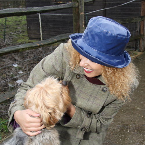 Peak and Brim Designer Hats - Kelly in Navy- direct from the designer