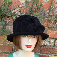Peak and Brim Designer Hats - Anna in Black - direct from the designer