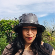 Peak and Brim Designer Hats - Kelly in black - direct from the designer