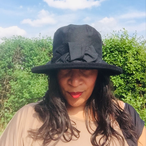 Zara in Black / Black - Available with small or large Brim - Direct from the designer, Peak and Brim Designer Hats
