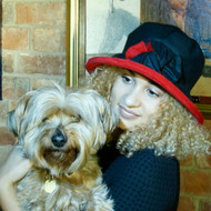 Zara in Black / Blood Red - Available with small or large Brim - Direct from the designer, Peak and Brim Designer Hats
