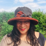 Zara in Brown / Bronze - Available with small or large Brim - Direct from the designer, Peak and Brim Designer Hats