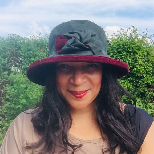 Zara in Green / Burgundy - Available with small or large Brim - Direct from the designer, Peak and Brim Designer Hats