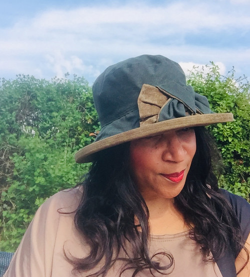 Zara in Green / Olive - Available with small or large Brim - Direct from the designer, Peak and Brim Designer Hats
