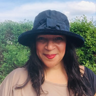 Zara in Navy / Navy - Available with small or large Brim - Direct from the designer, Peak and Brim Designer Hats