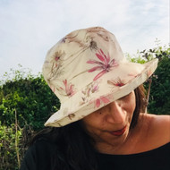 Peak and Brim Designer Hats - Kelly Floral (Plum) - direct from the designer