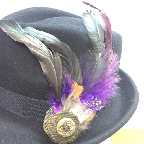 Feather Brooch - Purple