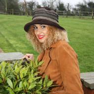 Peak and Brim Designer Hats - Jade Tweed in Brown- direct from the designer