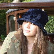 Peak and Brim Designer Hats - Anna in Navy - direct from the designer