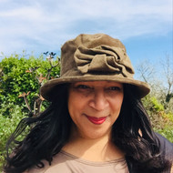 Peak and Brim Designer Hats - Anna in Olive - direct from the designer