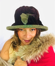 Peak and Brim Designer Hats - Gina in Brown - direct from the designer