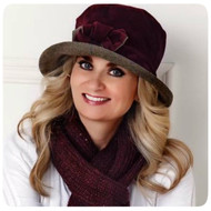 Peak and Brim Designer Hats - Gina in Burgundy - direct from the designer