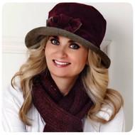 Peak and Brim Designer Hats - Gina in Burgundy - direct from the designer