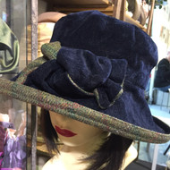 Peak and Brim Designer Hats - Gina in Navy - direct from the designer