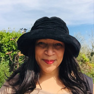 Peak and Brim Designer Hats - Jodie in Black - direct from the designer