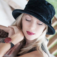 Peak and Brim Designer Hats - Kitty in Navy - direct from the designer