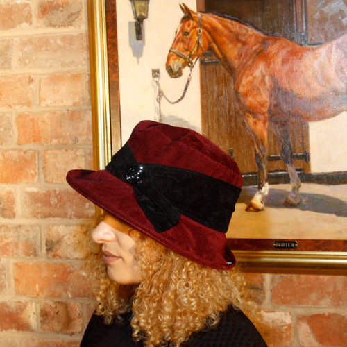 Peak and Brim Designer Hats - Kitty in Burgundy - direct from the designer