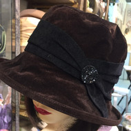 Peak and Brim Designer Hats - Kitty in Brown - direct from the designer