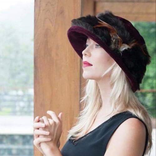 Peak and Brim Designer Hats - Monique in Burgundy - direct from the designer