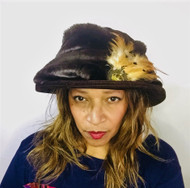 Peak and Brim Designer Hats - Monique in Brown - direct from the designer